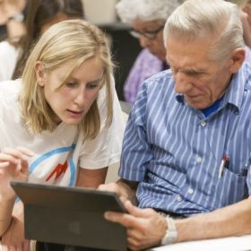 Students help older adults navigate technology