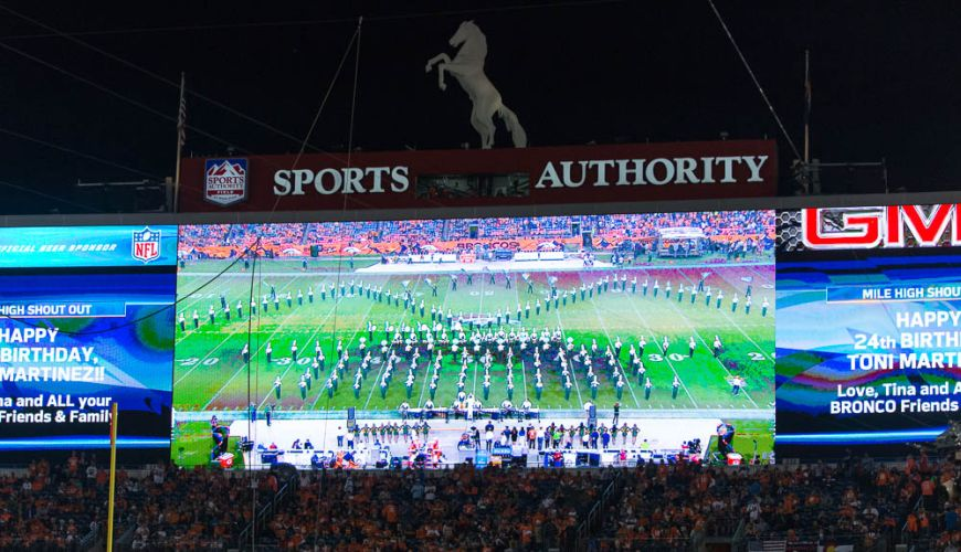 Marching Band at the Denver Broncos