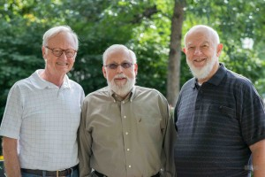 photo of Brad Sheafor, Victor Baez, and Bruce Hall, faculty emeriti from the School of Social Work.