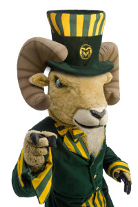 Cam the Ram in a Top Hat and formal attire. July 12, 2012