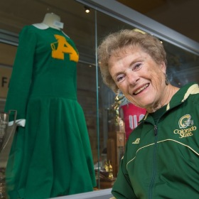 Former cheerleader Woods recalls homecomings past