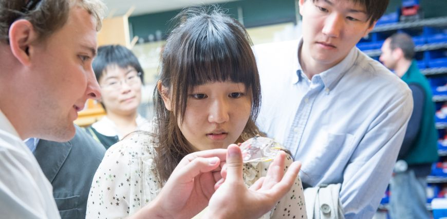 Students from Fukushima University tour Colorado State University's Chemistry Department September 16, 2014