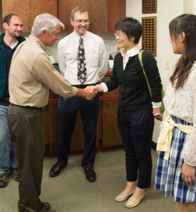 Students from Fukushima University Meet with Mark Stetter, the Dean of Colorado State University's College of Veterinary Medicine and Biomedical Sciences. September 16, 2014