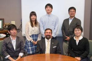 Students from Fukushima University meet with Colorado State University President Tony Frank. September 16, 2014