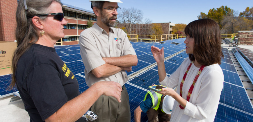Solar Panels Installed on Colorado State University's Braiden Ha