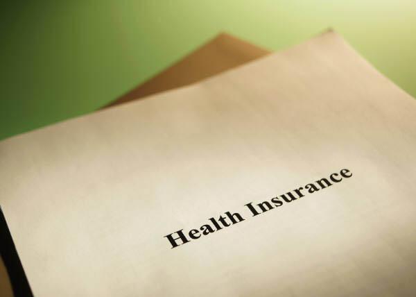 Folder marked health insurance