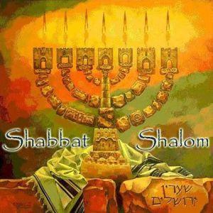 Shabbat Shalom menorah