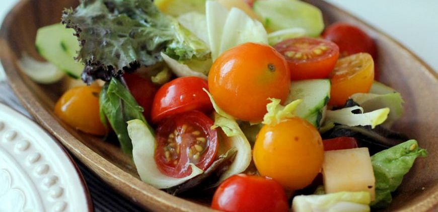 healthy salad greens