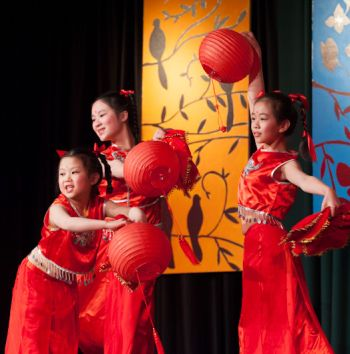 Young performers at Chinese New Year Festival