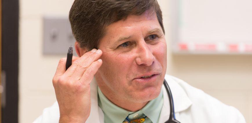 Close-up of Dr. Craig Webb