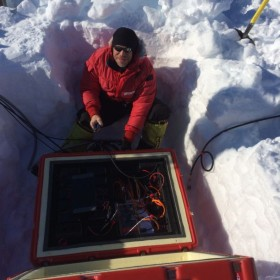 Researching fire and ice at the bottom of the earth