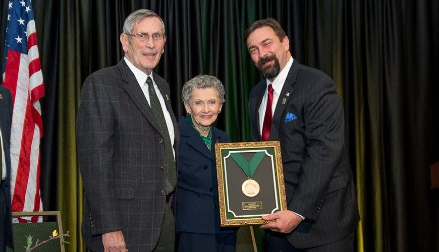 Bob and Joyce Everitt the 2015 Founders Day Medal Recipients