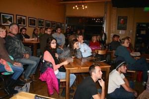 Science on Tap audience at the local brewery Pateros Creek
