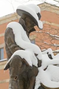 Snow at Colorado State University