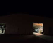 The CSU foaling barn – a maternity ward for horse - late at night.