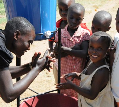 hand-washing instruction in Tanzania