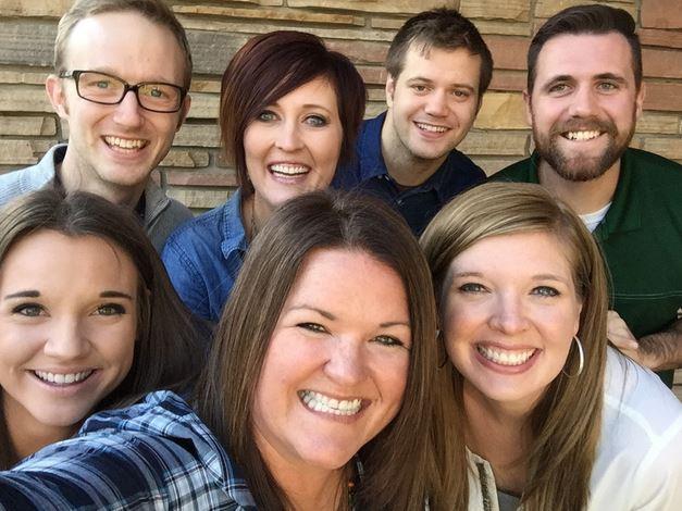 CSU social and digital media team members Ashley Manweiler, Evan Moore, Lindsay Conners, Jen Smith, Chase Baker, Kimberly Stern, and Tim Brogdon