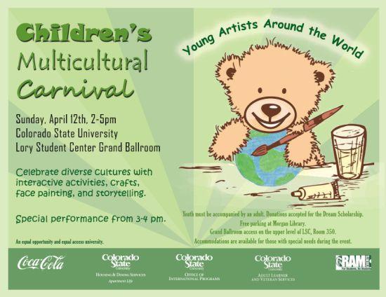 children's multicultural carnival poster