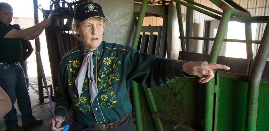 Temple Grandin at the Agricultural Research, Demonstration and Education Center (ARDEC) March 31, 2015