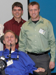 John Morris and his two business partners Josh Gladfelter and Garret Ehrick, who are both engineering students.