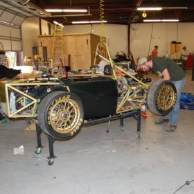 CSU debuts electric race car at Old Town Car Show
