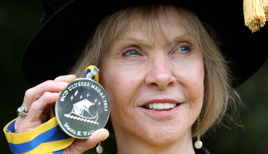 Repro Free: Tuesday 16th June 2015. The UCD Ulysses Medal has been presented to Diana Harrison Wall, University Distinguished Professor of Biology, and Senior Research Scientist at the Natural Resource Ecology Laboratory at Colorado State University. Picture Jason Clarke Photography.