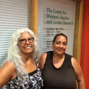 Head of the Department of Ethnic Studies Irene Vernon, left, and Caridad Souza, director of the Center for Women's Studies and Gender Research.