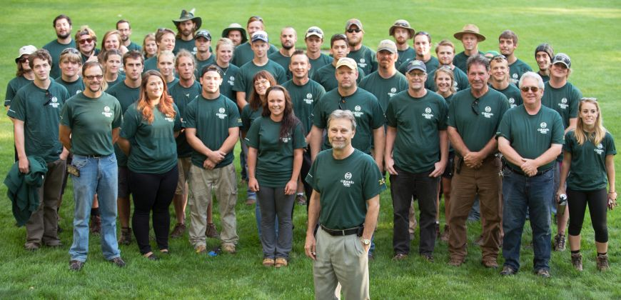 Steve Hultin with his Facilities Management staff. August 13, 2015