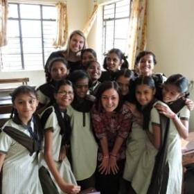 Faculty, students do social work in India