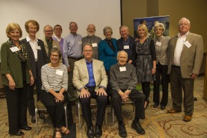 Legacies Project honorees who attended the Faculty Emeriti and Retiree Breakfast this past spring gather with CHHS Dean Jeff McCubbin, center.