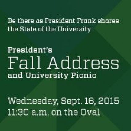 Fall Address and University Picnic Sept. 16