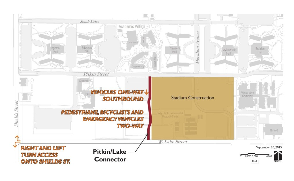 map of new road connecting Lake Street and Pitkin Street