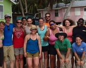 Colorado State University grad students in Belize