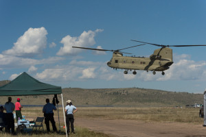 Emergency personnel used CSU's Christman Field as a base during evacuations from flooding in Northern Larimer County in September 2013.