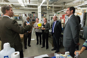 The EPA visitors toured facilities in chemistry and plant biology, as well as the Powerhouse Energy Campus.