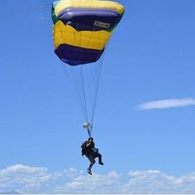 CSU alum skydives to celebrate doubling life expectancy