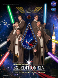Astronaut and CSU alum Kjell Lindgren had a hand in designing this Star Wars-themed crew poster for his NASA mission to the International Space Station. (Photo provided by NASA)
