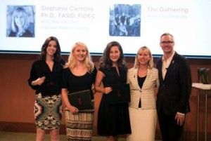 (from left to right) Briar Sawkins, Outgoing CSU ASID Chapter President; Hannah Fluitt, University of Nevada and Student Leader of the Year; Stephanie Clemons, Faculty Leader of the Year; Randy Fiser CEO of ASID National
