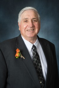 Dale McCall (B.S., Vocational Agriculture, '68; M.Ed., Trade and Industrial Education, '72; Ph.D., Vocational Education '82) is honored as the College of Agricultural Sciences Honor Alumnus at the 2015 Distinguished Alumni Awards banquet sponsored by the Colorado State University Alumni Association. October 15, 2015
