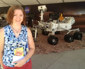 Boyle on location for a story about NASA