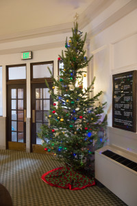 Christmas tree in the CSU Administration Building