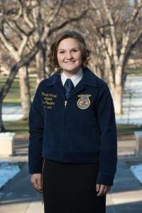 Kristin Schmidt, FFA National Vice President, at Colorado State University, November 19, 2014