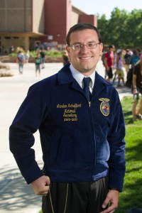 Landan Schaffert, a Future Farmers of American state officer who is now a CSU student. September 14, 2012