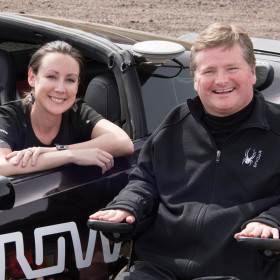 Car designed by engineering alumna puts paralyzed racer back in driver's seat