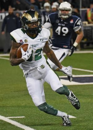 Rashard Higgins became CSU's all-time leader in catches, receiving yards and receiving touchdowns,