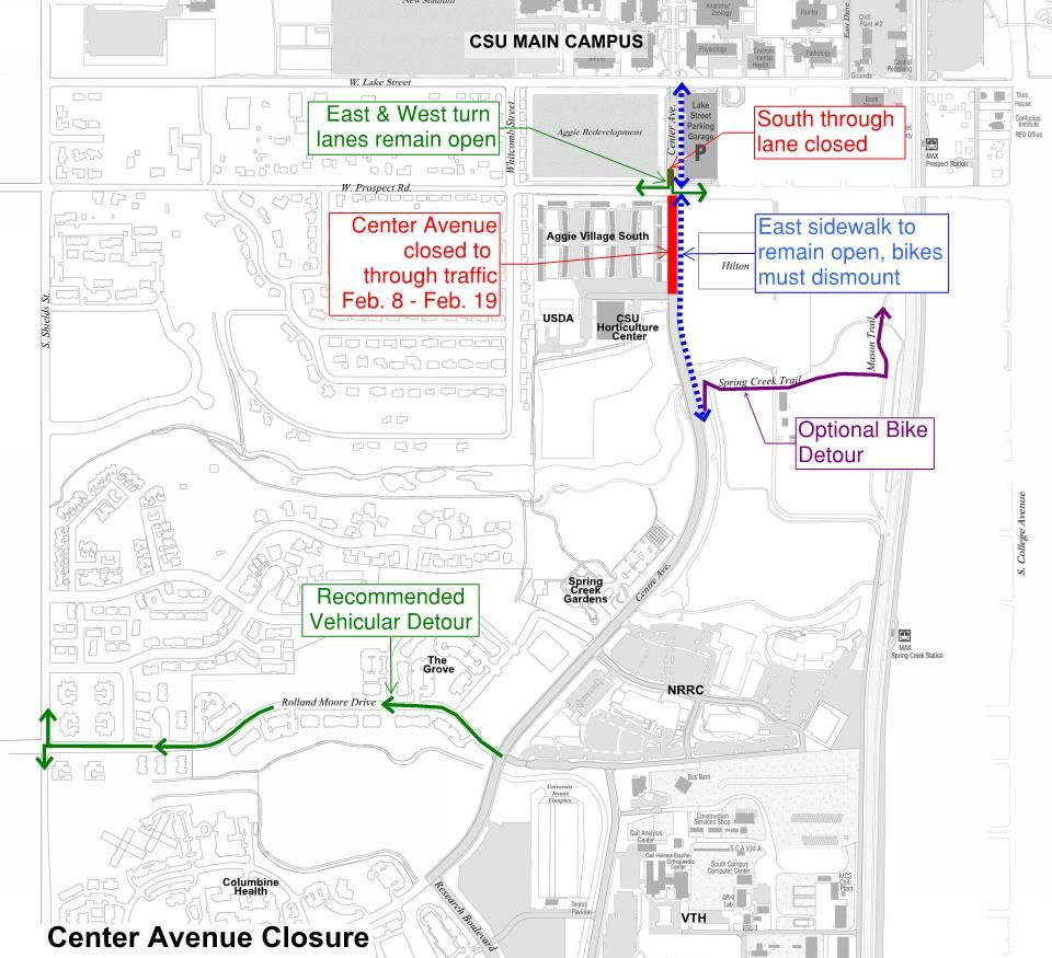 Center Ave Closure Map - Feb2016