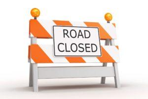 road closed graphic white backgroun