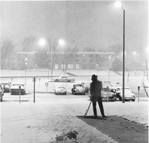 Cold work on a snowy night, 1971
