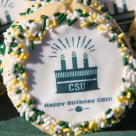 CSU birthday cookies? Yes!