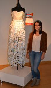 Map Dress with designer Nina Mascheroni